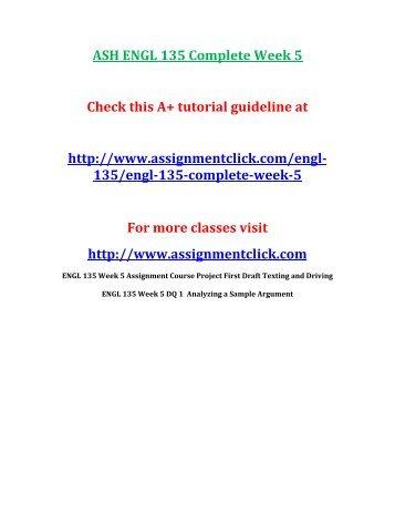 ASH ENGL 135 Complete Week 5