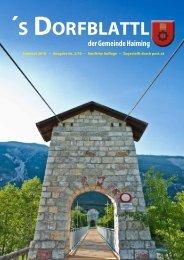 Sommer 2010 -´s Dorfblattl - Gemeinde Haiming - Land Tirol