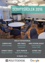 Debattskolen program
