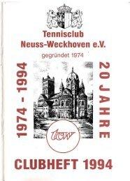 Clubheft des TCW - Ausgabe für 1994