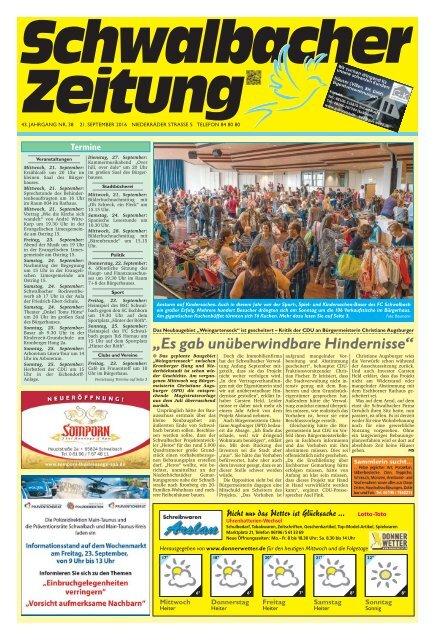 Schwalbacher Zeitung Ausgabe Kw 38-2016
