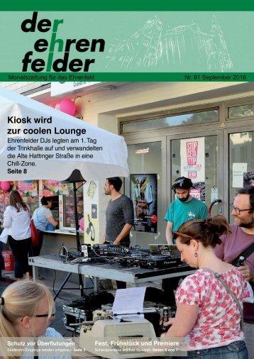 Der Ehrenfelder 81 - September 2016