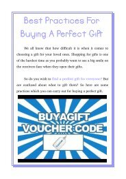 Best Practices For Buying A Perfect Gift