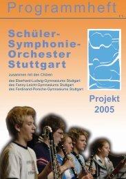 Programmheft - Schüler-Symphonie-Orchester Stuttgart