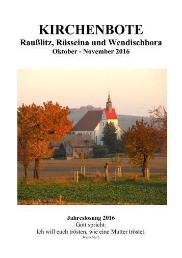 Kirchenbote Oktober - November 2016
