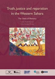 Truth justice and reparation in the Western Sahara