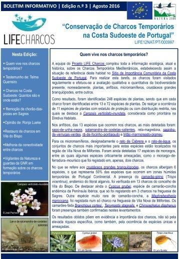 Life Charcos - Boletim Informativo 3