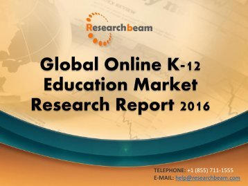 Global Online K-12 Education Market Research Report 2016