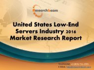 United States Low-End Servers Industry 2016 Market Research Report
