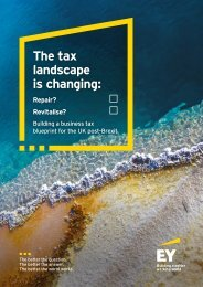 The tax landscape is changing