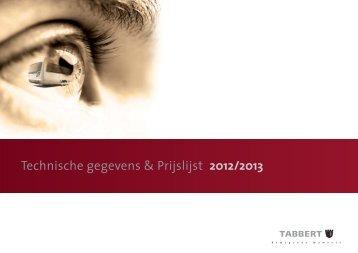 Technische gegevens & Prijslijst 2012/2013 - Tabbert