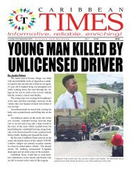 Caribbean Times 98th Issue - Thursday 22nd September 2016