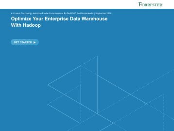 Optimize Your Enterprise Data Warehouse With Hadoop
