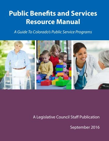 Public Benefits and Services Resource Manual