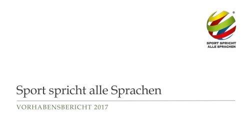 Vereinspräsentation Vorschau 2017