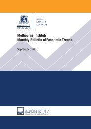 Melbourne Institute Monthly Bulletin of Economic Trends September 2016