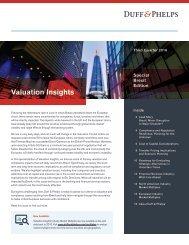 Valuation Insights