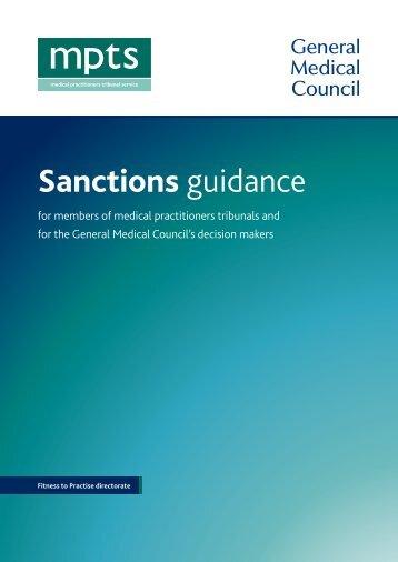 Sanctions guidance