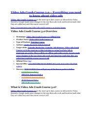 Video Ads Crash Course 3.0 review & Video Ads Crash Course 3.0 $22,600 bonus-discount