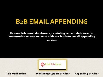 Update your customer database with Business Email Appending