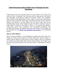 A Brief Overview About Sikkim Tour Packages for this Christmas