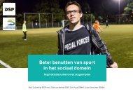 Beter benutten van sport in het sociaal domein