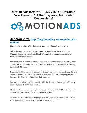 Motion Ads Review and Premium $14,700 Bonus