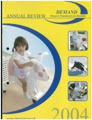 DEMAND Design & Manufacture for Disability 2004 Annual Review