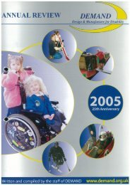 DEMAND Design & Manufacture for Disability 2005 Annual Review