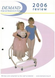 DEMAND Design & Manufacture for Disability 2006 Annual Review