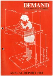 DEMAND Design & Manufacture for Disability 1981 Annual Review