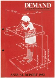 DEMAND Design & Manufacture for Disability 1983 Annual Review