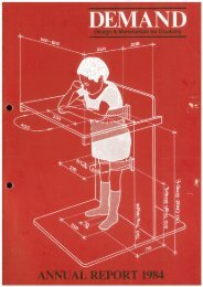 DEMAND Design & Manufacture for Disability 1984 Annual Review