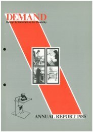 DEMAND Design & Manufacture for Disability 1985 Annual Review