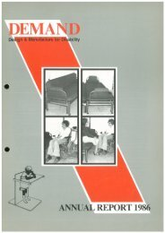 DEMAND Design & Manufacture for Disability 1986 Annual Review