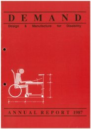 DEMAND Design & Manufacture for Disability 1987 Annual Review