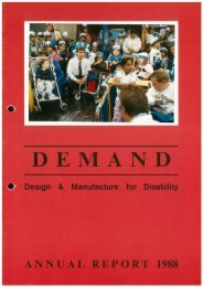 DEMAND Design & Manufacture for Disability 1988 Annual Review