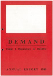 DEMAND Design & Manufacture for Disability 1989 Annual Review