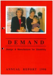 DEMAND Design & Manufacture for Disability 1990 Annual Review