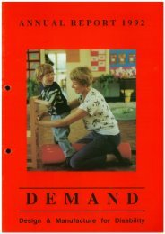 DEMAND Design & Manufacture for Disability 1992 Annual Review