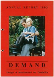 DEMAND Design & Manufacture for Disability 1993 Annual Review