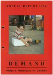 DEMAND Design & Manufacture for Disability 1994 Annual Review