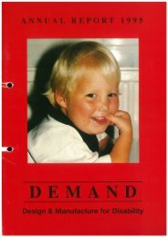 DEMAND Design & Manufacture for Disability 1995 Annual Review