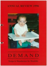 DEMAND Design & Manufacture for Disability 1996 Annual Review