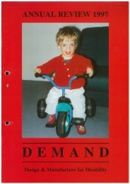 DEMAND Design & Manufacture for Disability 1997 Annual Review