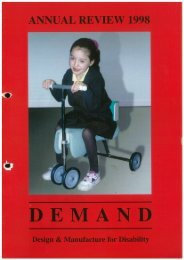 DEMAND Design & Manufacture for Disability 1998 Annual Review