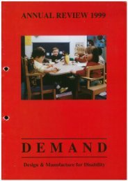 DEMAND Design & Manufacture for Disability 1999 Annual Review