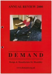 DEMAND Design & Manufacture for Disability 2000 Annual Review