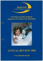 DEMAND Design & Manufacture for Disability 2001 Annual Review