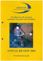 DEMAND Design & Manufacture for Disability 2002 Annual Review